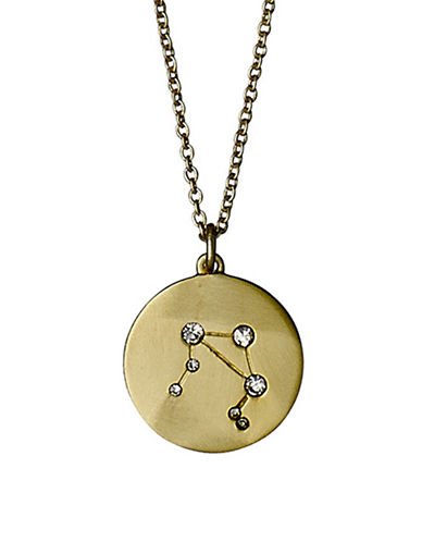 Pilgrim Starsign Libra Pendant Necklace-GOLD-One Size