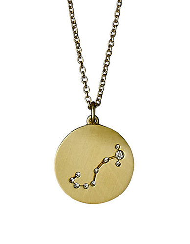 Pilgrim Starsign Scorpio Pendant Necklace-GOLD-One Size