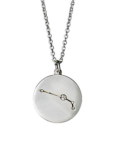 Pilgrim Starsign Aries Pendant Necklace-SILVER-One Size