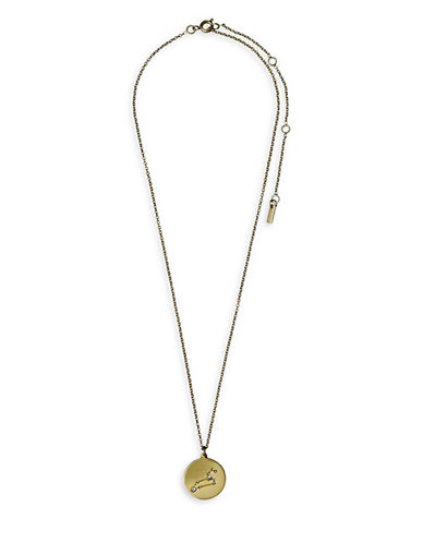 Pilgrim Starsign Leo Pendant Necklace-GOLD-One Size
