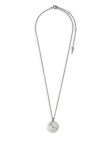 Pilgrim Starsign Cancer Pendant Necklace-SILVER-One Size