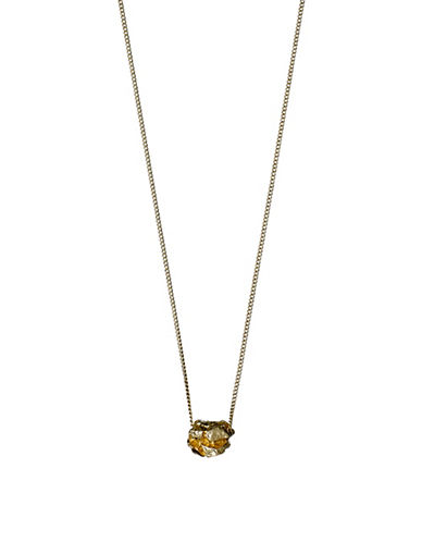 Pilgrim Fragment 14K Goldplated Rock Pendant Necklace-GOLD-One Size