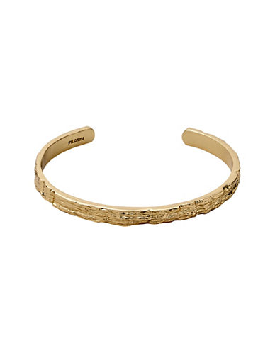 Pilgrim Fragment 10K Goldplated Rock Bangle-GOLD-One Size
