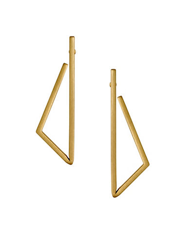 Pilgrim Fragile 14K Goldplated Geo Earrings-GOLD-One Size