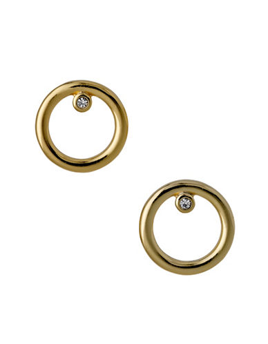 Pilgrim Stand Alone Crystal Stud Earrings-GOLD-One Size
