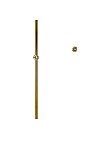 Pilgrim Dotted Line Asymmetric Earrings-GOLD-One Size