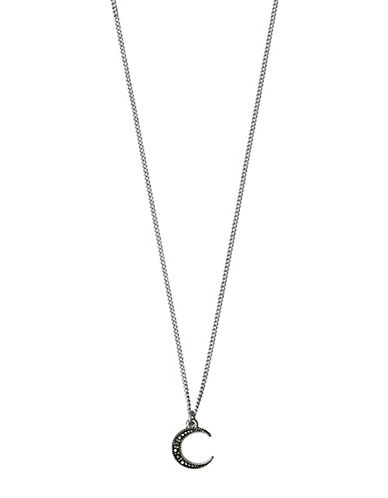 Pilgrim 14K Goldplated Moon Pendant Necklace-SILVER-One Size