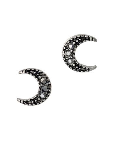 Pilgrim 14K Goldplated Moon Earrings-SILVER-One Size