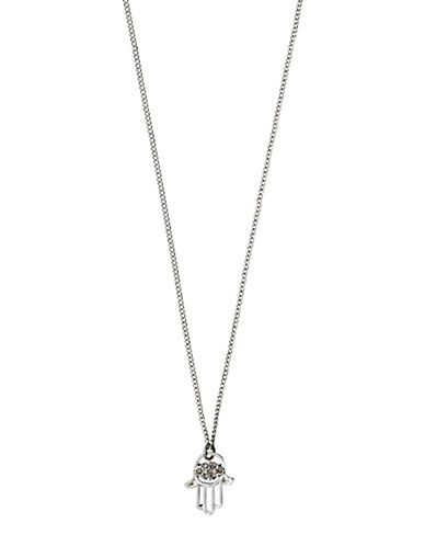 Pilgrim Evil Eye Silverplated Necklace-SILVER-One Size