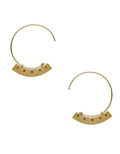 Pilgrim 14K Goldplated Hoop Earrings-GOLD-One Size