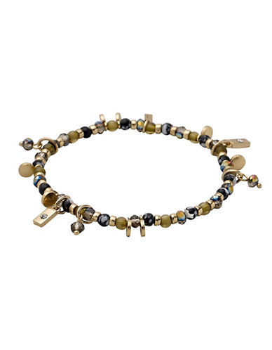 Pilgrim 14K Goldplated Charm Bracelet-GOLD-One Size