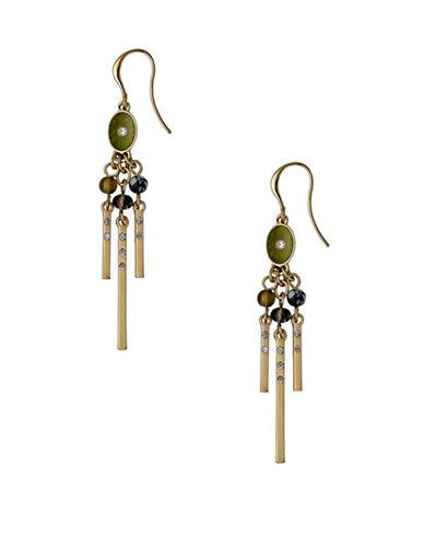 Pilgrim 14K Goldplated Dangle Earrings-GOLD-One Size