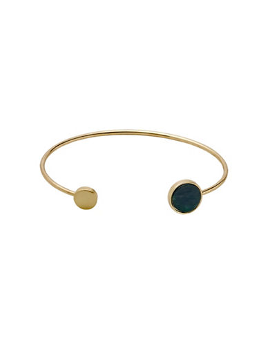 Pilgrim Trusty Goldtone Bangle-GOLD-One Size