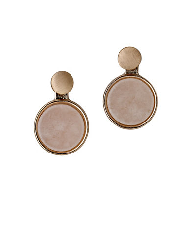 Pilgrim Disc Drop Rose-Goldtone Earrings-ROSE GOLD-One Size