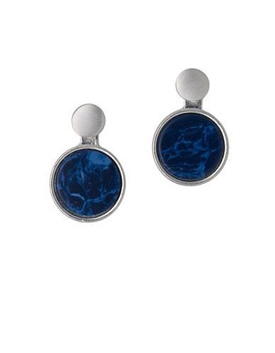 Pilgrim Disc Drop Silvertone Earrings-SILVER-One Size