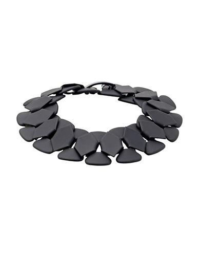 Pilgrim Matte Black Statement Bracelet-BLACK-One Size