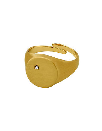 Pilgrim 14K Goldplated Star-Detailed Ring-GOLD-One Size