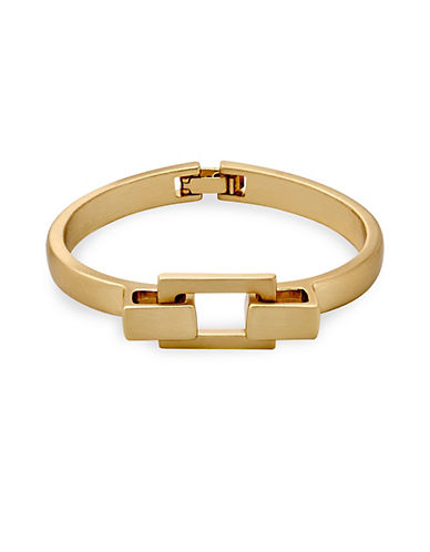 Pilgrim Interlock Hinged Bangle-GOLD-One Size