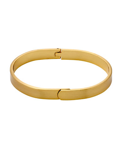 Pilgrim Overlaping Hinged Bangle-GOLD-One Size
