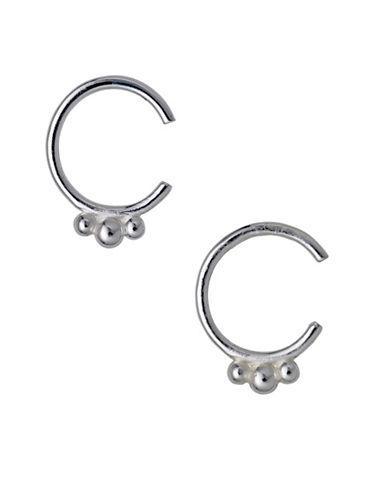 Pilgrim 14K Goldplated Hoop Earrings-SILVER-One Size