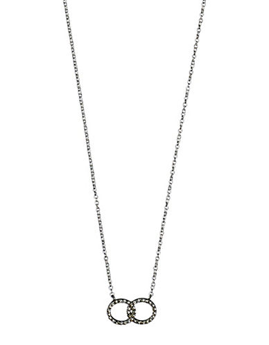 Pilgrim Interlocking Halos Pendant Necklace-SILVER-One Size