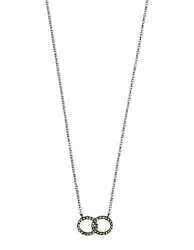 Pilgrim Interlocking Halos Pendant Necklace-SILVER-One Size