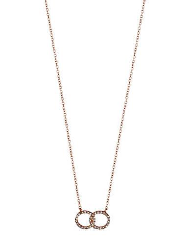 Pilgrim Interlocking Halos Pendant Necklace-ROSE GOLD-One Size