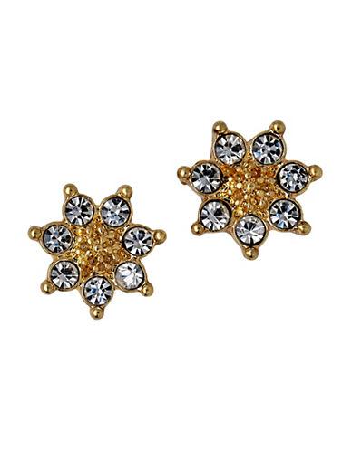 Pilgrim Crystal Sunburst Stud Earrings-GOLD-One Size
