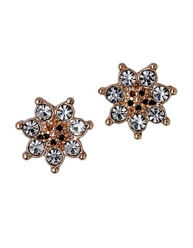 Pilgrim Crystal Sunburst Stud Earrings-ROSE GOLD-One Size