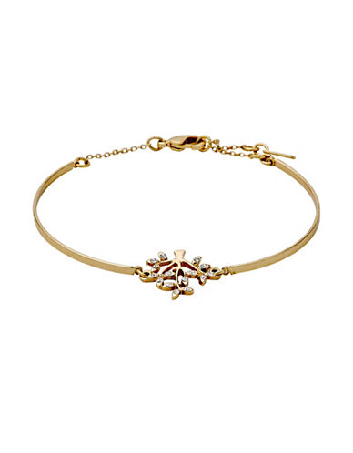 Pilgrim Crystal Tree Pendant Bracelet-GOLD-One Size