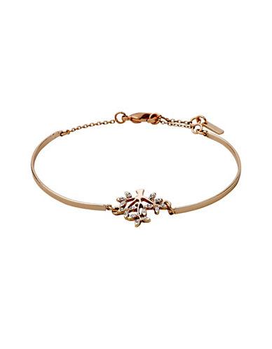 Pilgrim Crystal Tree Pendant Bracelet-ROSE GOLD-One Size