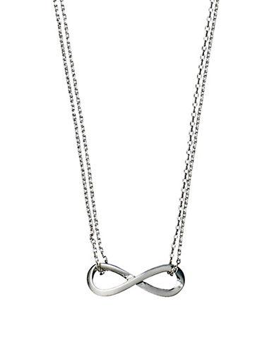 Pilgrim Infinite Pendant Necklace-SILVER-One Size