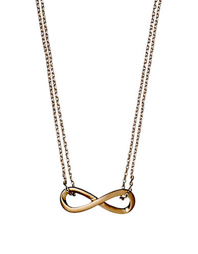 Pilgrim Infinite Pendant Necklace-ROSE GOLD-One Size