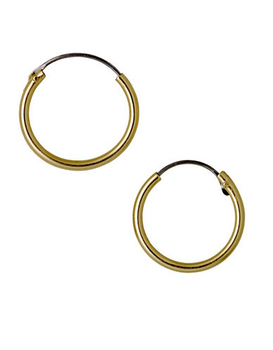 Pilgrim Sanne Goldplated Hoop Earrings-GOLD-One Size