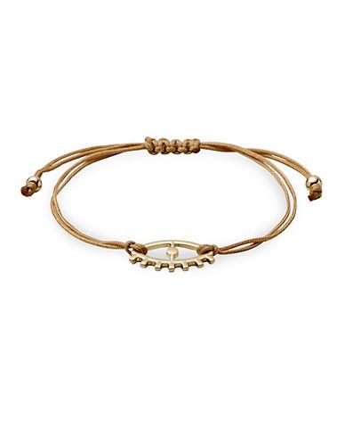 Pilgrim Evil Eye Friendship String Bracelet-GOLD-One Size