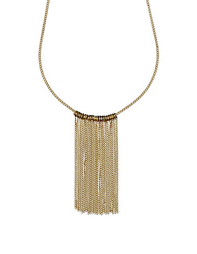 Pilgrim Horizons Goldplated Cascade Curb Chain Necklace-GOLD-One Size