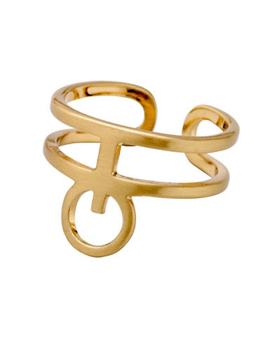 Pilgrim Aestetic Goldplated Cuff Ring-GOLD-One Size