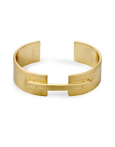 Pilgrim Conscious Goldtone Open Cuff Bracelet-GOLD-One Size