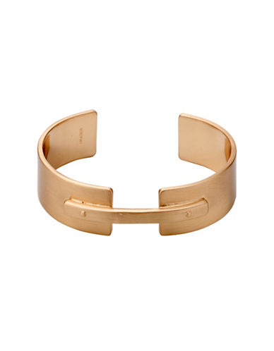Pilgrim Conscious Rose Goldtone Open Cuff Bracelet-ROSE GOLD-One Size