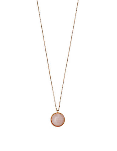 Pilgrim Worthy Quartz Rose-Goldtone Pendant Necklace-ROSE GOLD-One Size