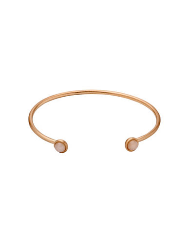 Pilgrim Rose Quartz Bangle-ROSE GOLD-One Size