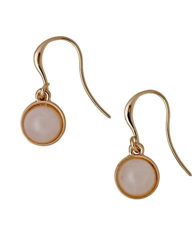 Pilgrim Worthy Quartz Rose-Goldtone Drop Earrings-ROSE GOLD-One Size