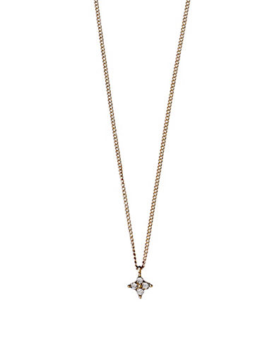 Pilgrim Curiosity Czech Crystal Rose Goldtone Pendant Necklace-ROSE GOLD-One Size