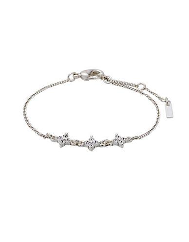 Pilgrim Curiosity Czech Crystal Silverplated Bracelet-ROSE GOLD-One Size