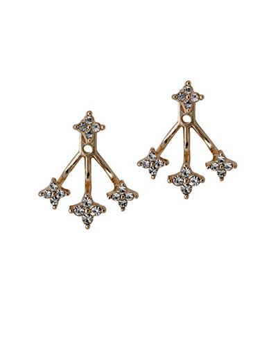 Pilgrim Curiosity Czech Crystal Rose-Goldtone Swing Earrings-ROSE GOLD-One Size