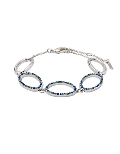 Pilgrim Pioneer Silverplated Oval Link Bracelet-SILVER-One Size