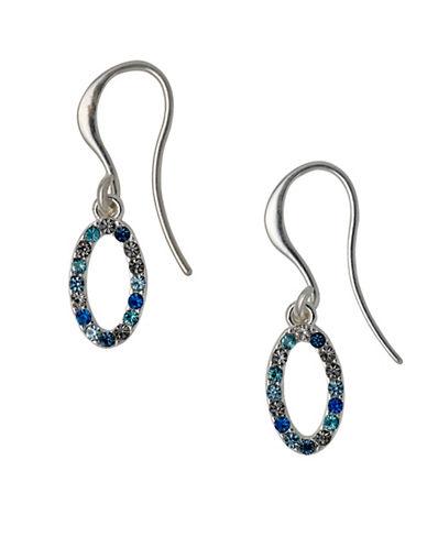 Pilgrim Pioneer Crystal Drop Earrings-SILVER-One Size