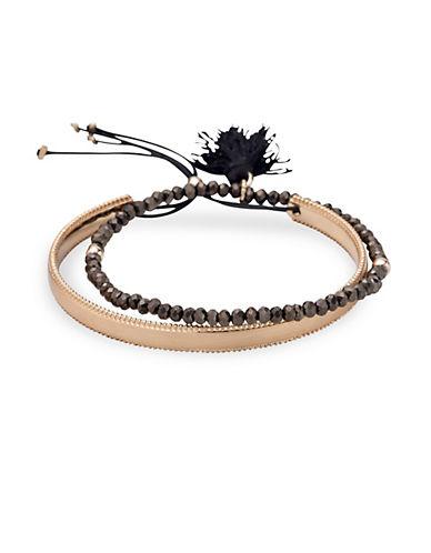 Pilgrim Two-Piece Rapsody Beaded Bracelet Set-ROSE GOLD-One Size