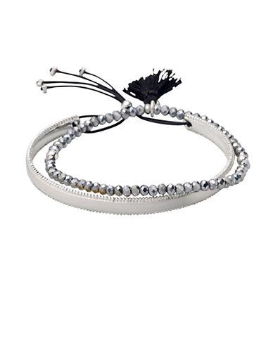 Pilgrim Two-Piece Rapsody Beaded Bracelet Set-SILVER-One Size