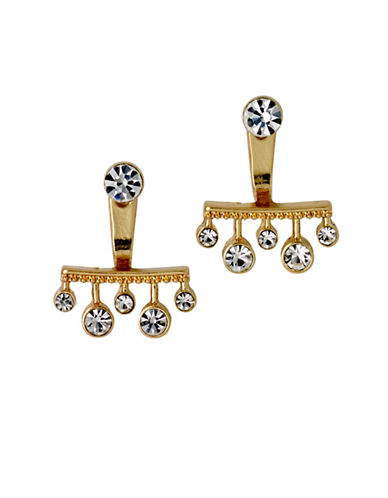 Pilgrim Czech Crystal Goldplated Swing Earrings-GOLD-One Size